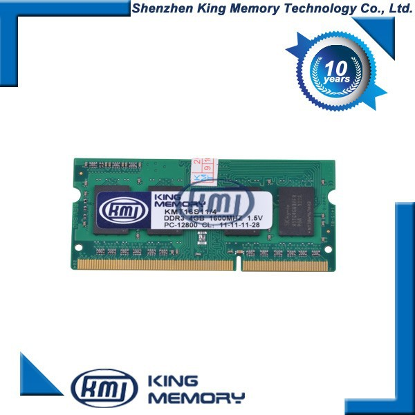 4GB PC3-12800 DDR3-1600MHzUnbuffered CL11 204-Pin SoDimm 1.35V Low Voltage Dual Rank Memory Module