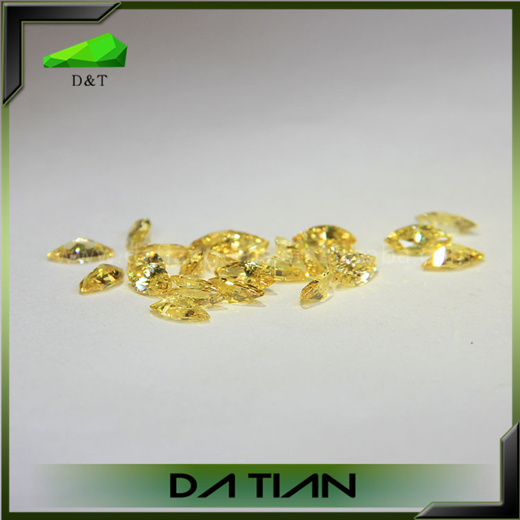 Top qulity wholesale dazzling price marquise yellow cz stones