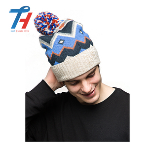 Custom Fashion High Quality Wireless Bluetooth Knitted Beanie Winter Hat With Pom Pom
