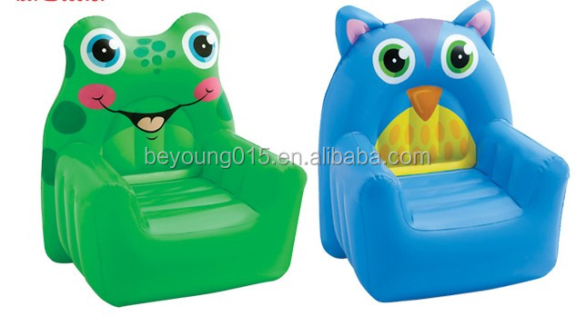 intex brand pvc vinyl inflatable animal sofa chair for kids
