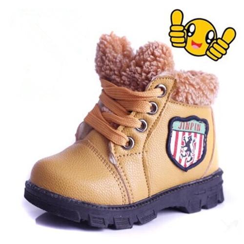 2015 новый теплый дети дети зимние ботинки мальчиков и девочек малыш обувь - мягкой обуви снегоступы F173