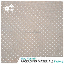 Best seller trendy style Crystal Fiberglass snow dot colorful floral tissue paper for decorating
