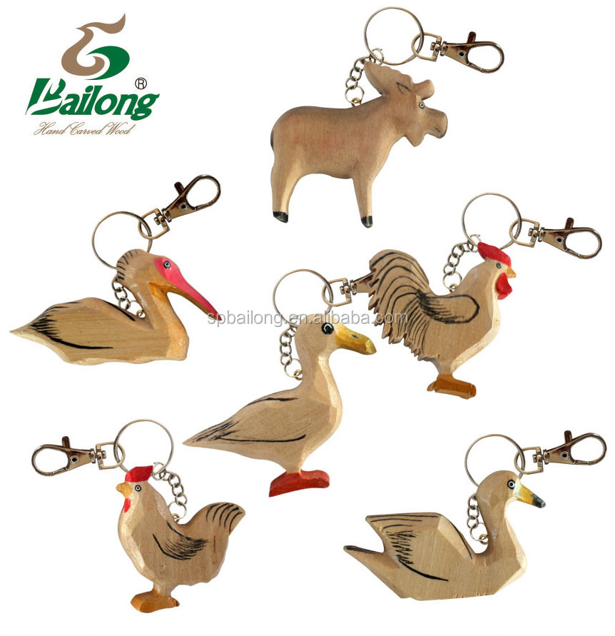 High quality custom logo blank wood keychain