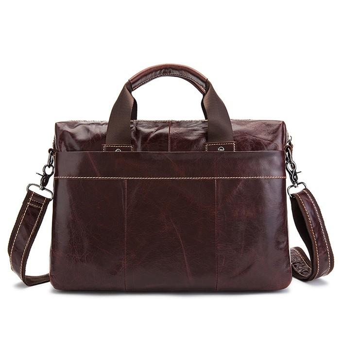 6334b883f1a VICUNA POLO Hot Products Retro Briefcase Fashion Popular Men's Handbag  Shoulder Bag Laptop Genuine Leather Computer Bag