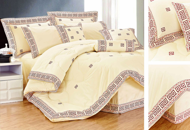 lace fabric embroidery bedding set luxury cotton polyester indian patchwork quilts king size