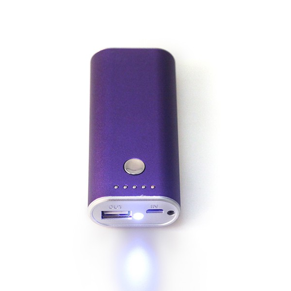 BSCI factory UL CE ROHS FCC certificated portable gift 4400 mAh power bank with LED torch hoomsam