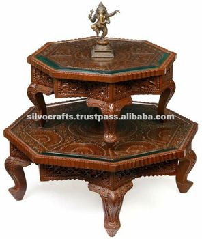 Wooden Carved Bajot U0026 Chowki Coffee Table (Carved Furniture From India)