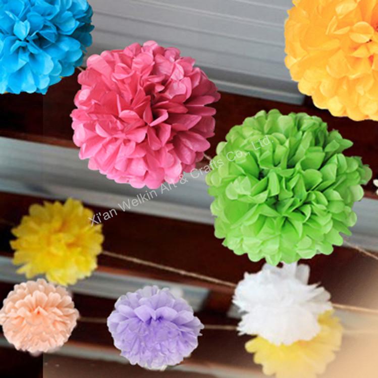 Tissue Paper Artificial Handmade Flowers Ball