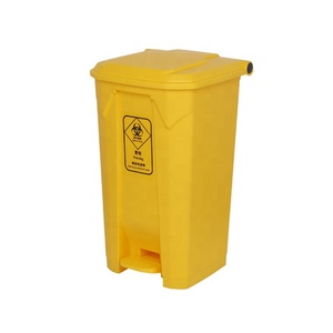 100 Liter Indoor Corrugated Plastic Separate Inset Egypt Esd Household Clinical Hospital Waste Bin With Foot Pedal