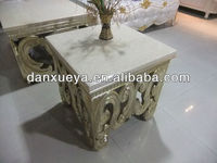 Italian marble top coffee table and end table hand carved coffee table BL-01#