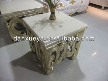 Italian Marble Top Coffee Table And End Hand Carved Bl 01 Wood Antique