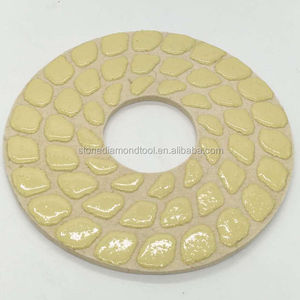 230mm Concrete Floor Wool Dry Polishing pad, Hook Sponge Polishing Pad