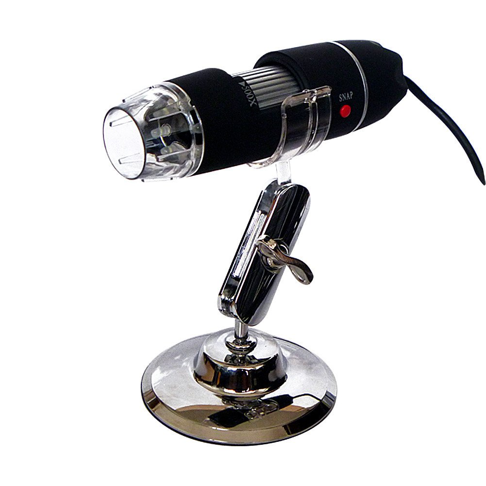 TOOGOO(R) Portable 5MP 50X-500X Magnification 8-LED USB Digital Microscope Endoscope with Stand for Education Industrial Biological Inspection