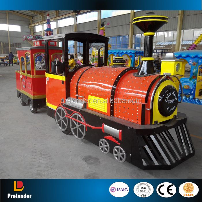 2015 Newest Amusement rides trackless train, amusement park electric train ride, kids riding train