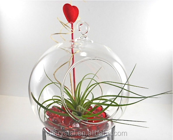 100mm wholesale clear fillable glass ball ornaments MH-KX075