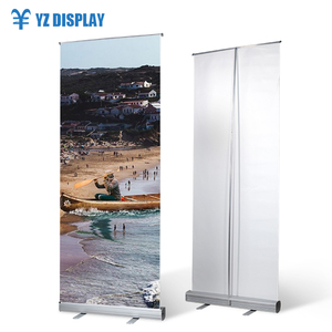 China Pull Banner Sale Double Sided Print Luxury Aluminum Roll Up Display Stand
