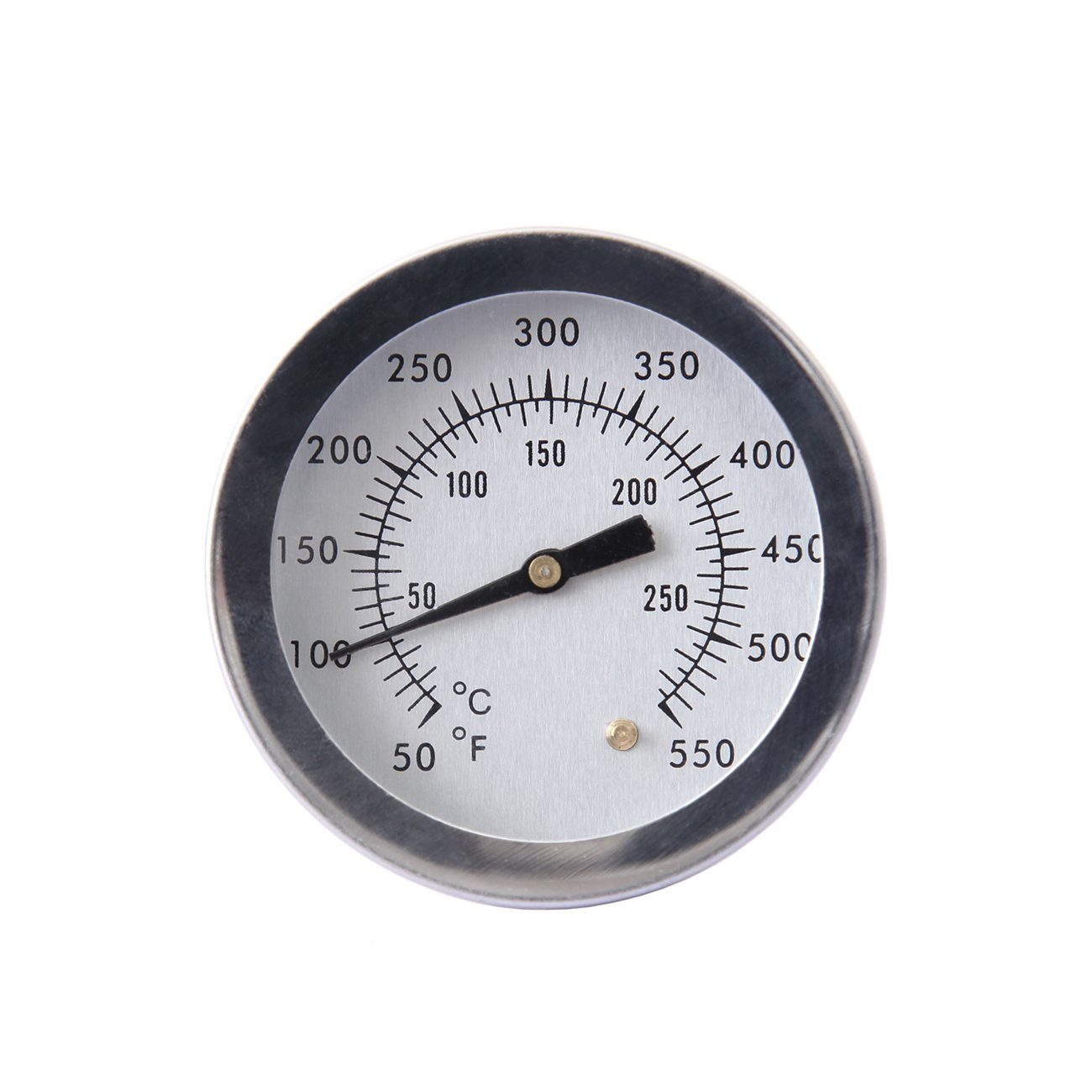 """Ridgeyard BBQ Barbecue Charcoal Grill Pit Wood Smoker Temperature Gauge Grill Pit Thermometer Fahrenheit Dia 2"""" for Barbecue Meat Cooking Beef Pork Lamb"""