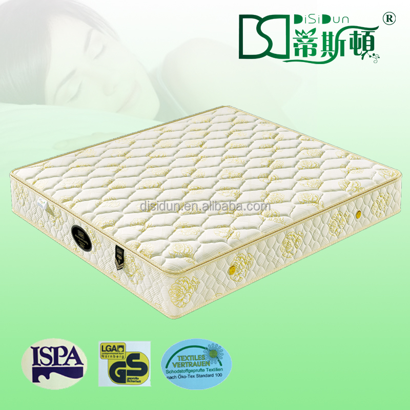 Alibaba Mattress Wool Cloth Circular Bed Mattress Bonnell Spring Well Mattress