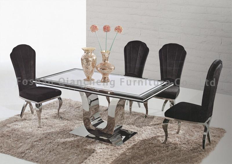 luxus moderne edelstahl konsolentisch mit spiegel buy product on. Black Bedroom Furniture Sets. Home Design Ideas