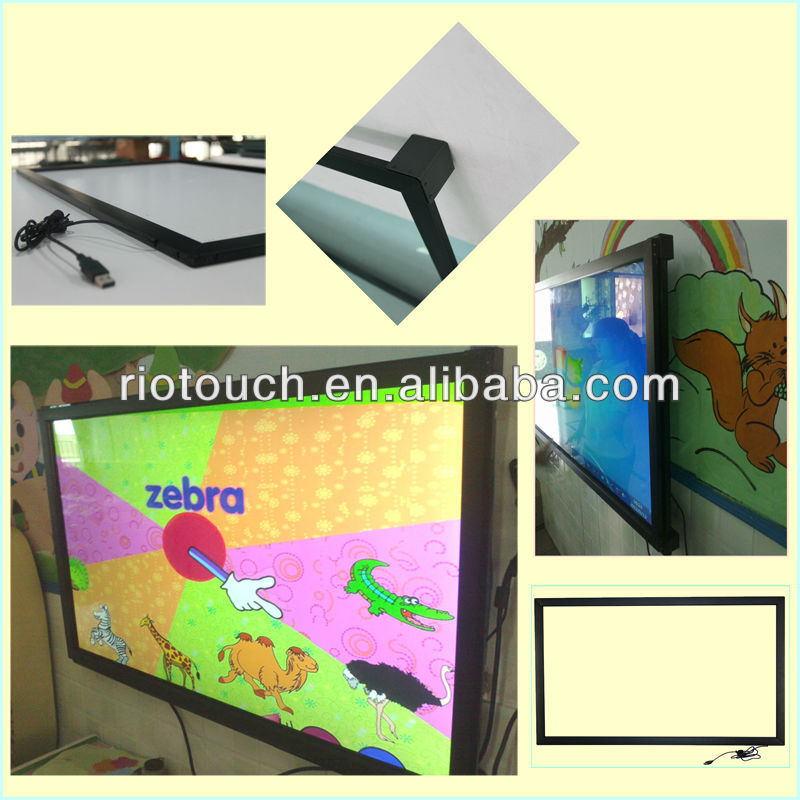 Large size touch screen frame make the LCD/LED/TV become touch screen monitor