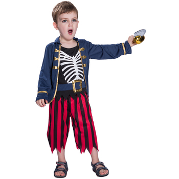 Halloween Pakken.Spot Goederen Kids Kinderen Jongens Halloween Skelet Piraat Cosplay Kostuums Party Pakken Buy Kids Piraat Skelet Kostuums Kinderen Halloween Skelet