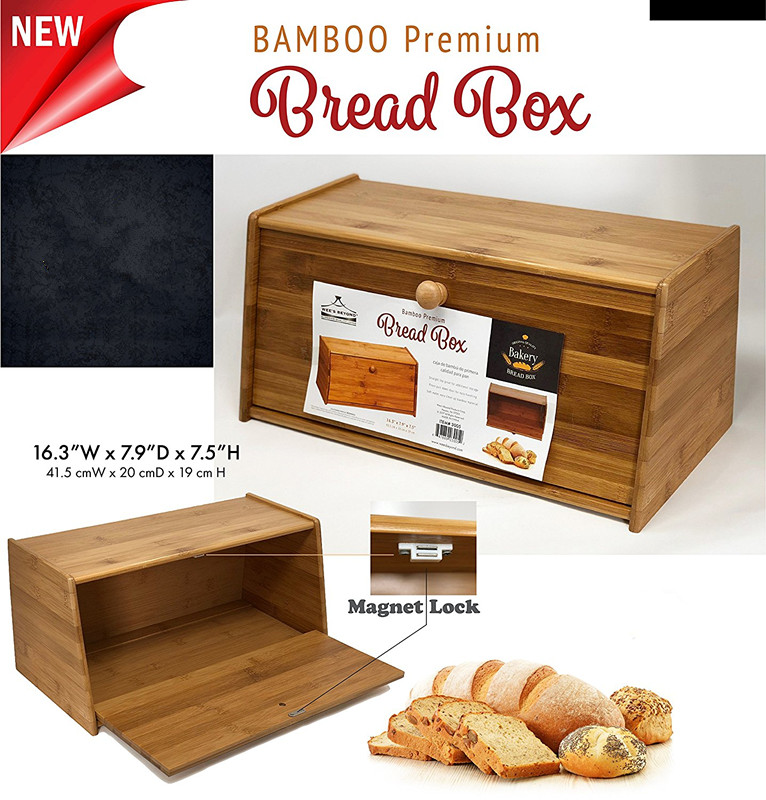 Wholesale Price High Quality Bamboo Bread Box 5