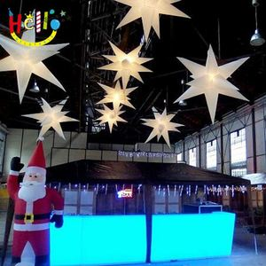 Wonderful discount party supplies lighting inflatable star with changeful led light for sale