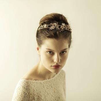 Wedding Bridal Party Pearl Diamante Love Flower Tiara Women Headband Head Hair Bands Headwear Accessories