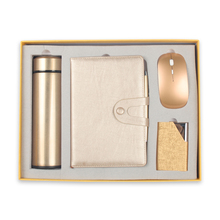Business Gift Sets Vacuum Cup Name Card Holder Notebook Pen Mouse set
