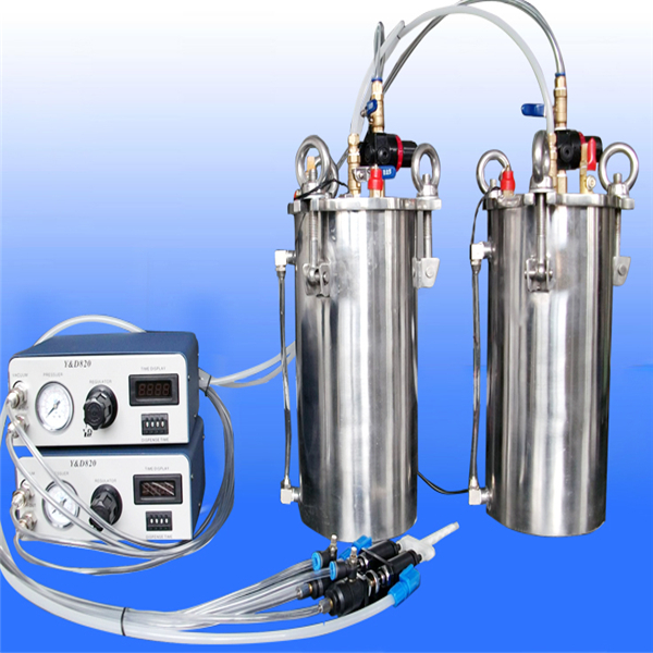 Two Part Epoxy Dispenser ~ Semi automatic liquid adhesive dispenser for silicone glue