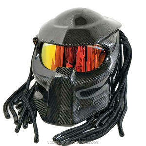 Predator Full Face Motorcycle Helmet Carbon fiber glass material monster DOT helmets