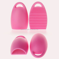 Makeup Brush Cleaner Silicone Cosmetic Brush Egg with Handy Hook