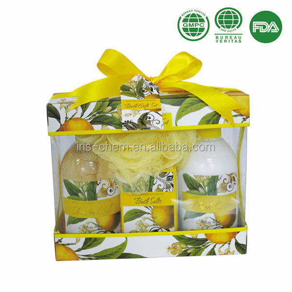 Sweet Mandarin & Grapefruit bath gift set with shower gel body lotion