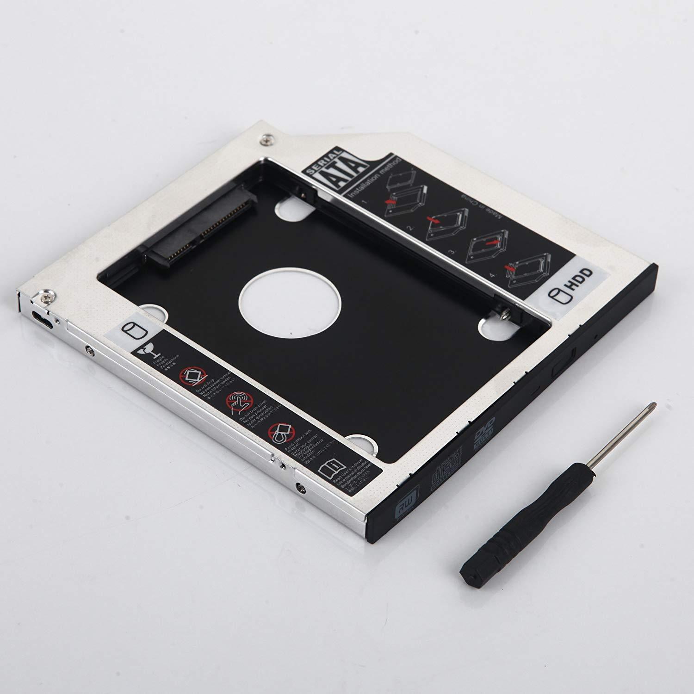 DY-tech 2nd Hard Drive HDD SSD Caddy for HP 15F-F Series 15-f033wm 15-f024wm su-208 DVD