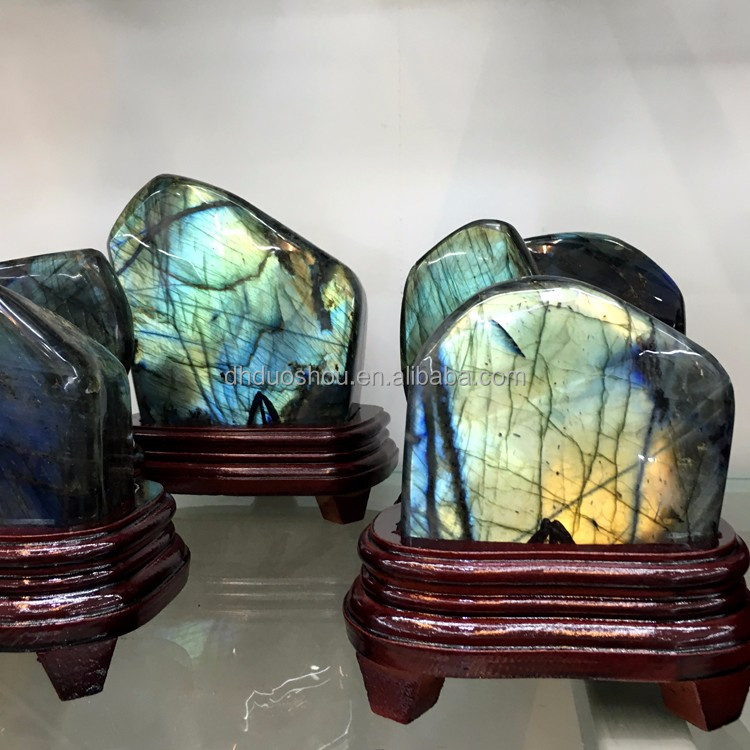 Hot Sale Labradorite Polished Semi Precious Stone Gem Prices