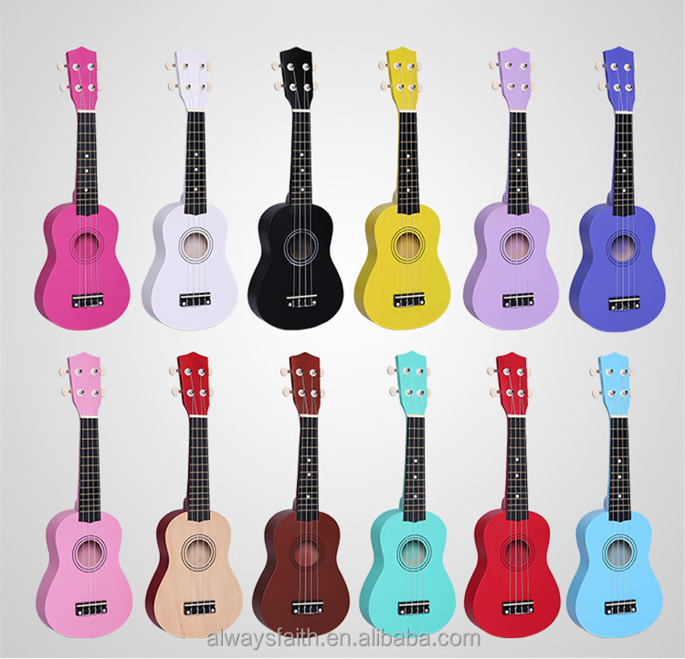 Wholesale high quality cheap price colorful ukulele from China