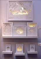 creative new product white wood shadow box photo frame with led lights