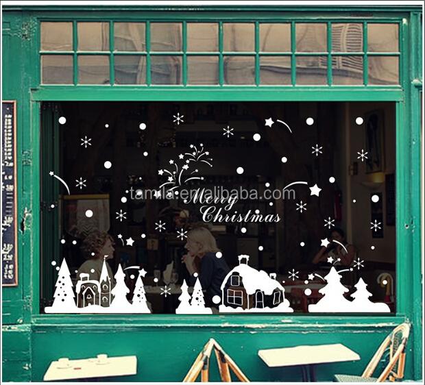Weihnachten Schaufenster Aufkleber Winter Schneeflocke
