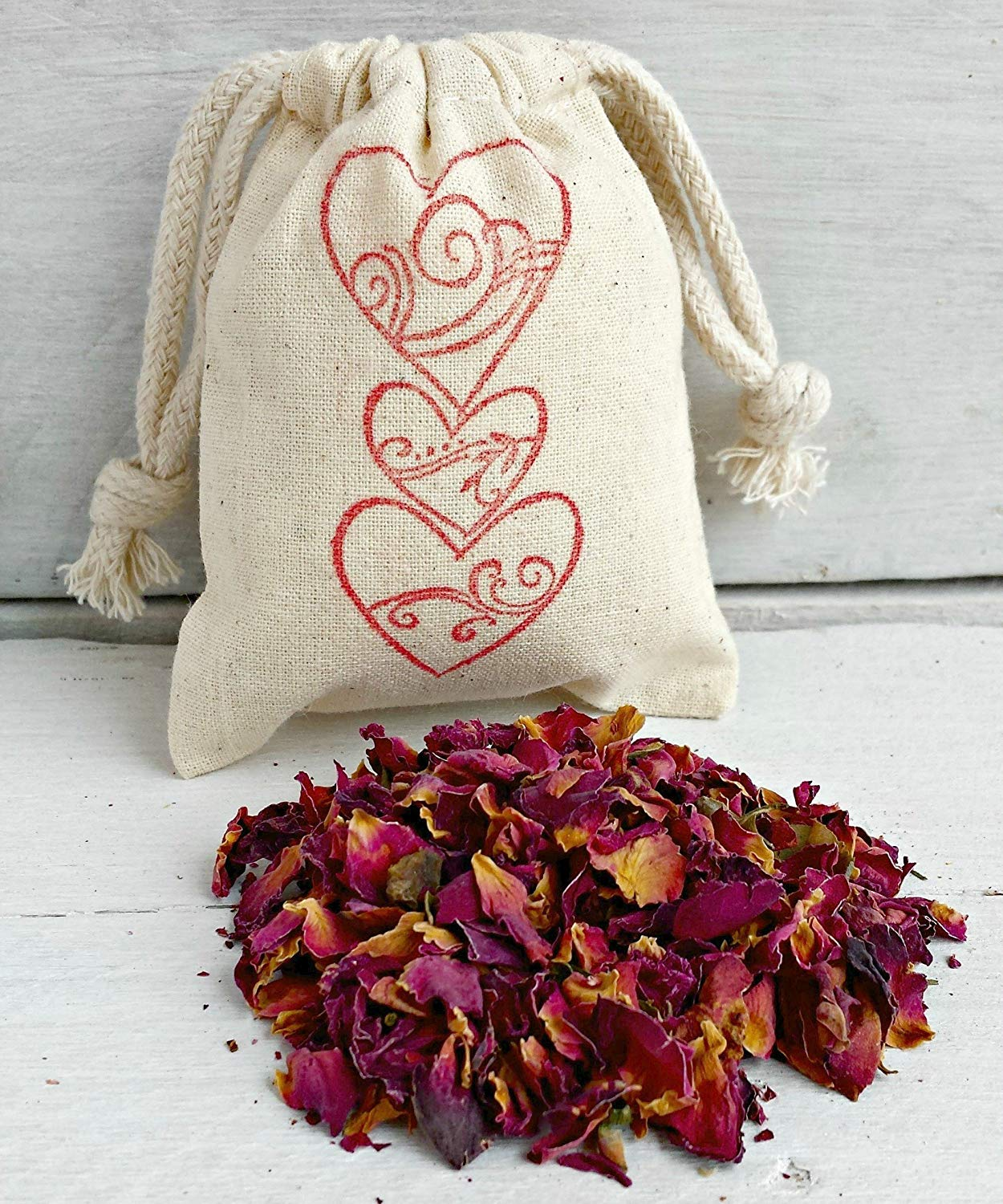 Rose Petal Sachets Bags | Rose Scented Sachets | Aromatherapy Sachet Favors | Rose Wedding Favors | Scented Drawer Sachets | Drawer Sachets