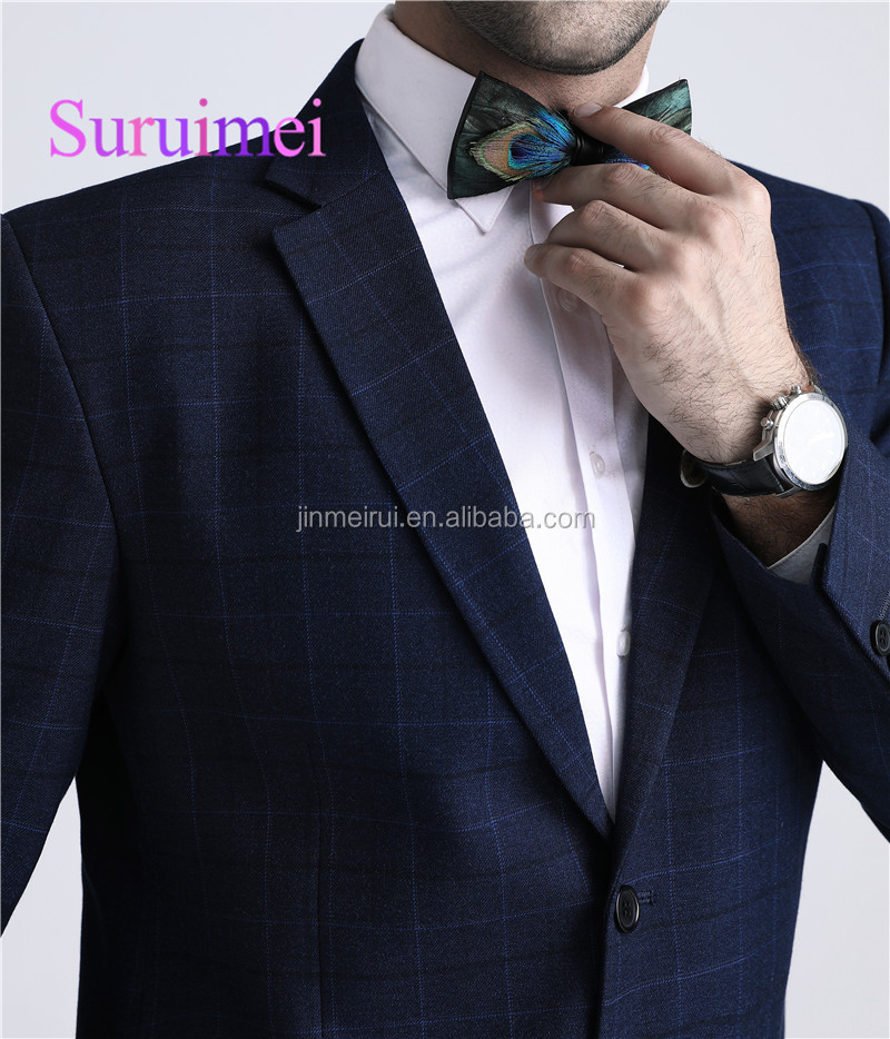 Best Selling Slim Fit Suits For Men Gentleman Bow Tie One Button Business Formal Suits Men