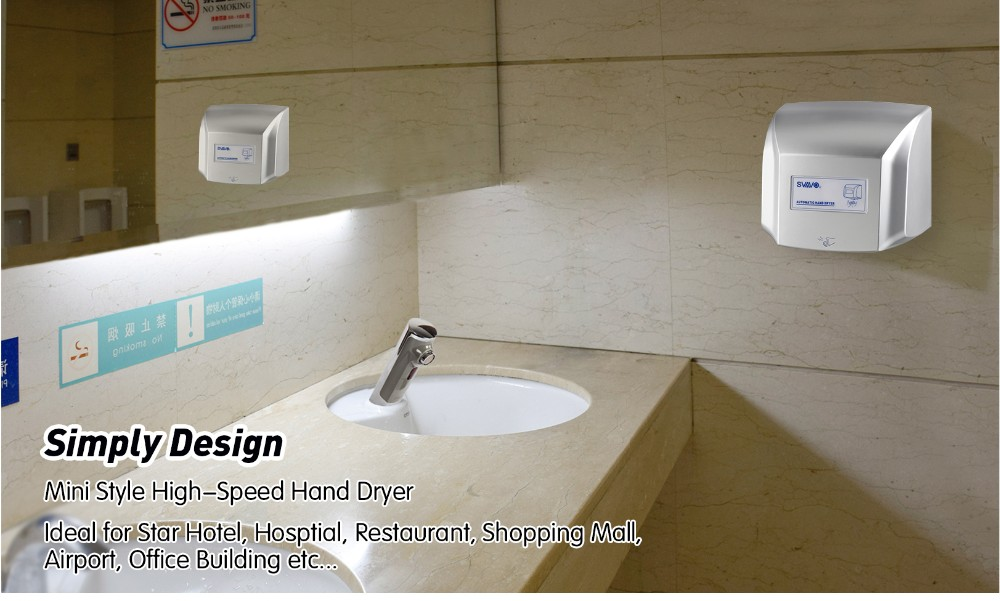 Bathroom Hand Dryers Style svavo newly style hotel bathroom jet air hand dryer with wall
