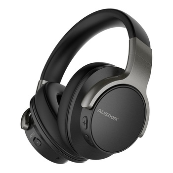 Ausdom Top Selling Highly Recommended ANC8 Over Ear Active Noise Cancelling Adjustable Super Durable Wireless Headphone With Mic