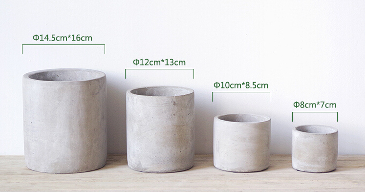nieuwe ontwerp bloemen planten beton pot vetplanten pot bloempotten en plantenbakken product. Black Bedroom Furniture Sets. Home Design Ideas