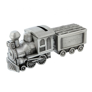 coin bank metal train wholesale