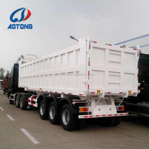 32 Cubic Meter Rear 3 Axle Dump Truck / Tipper Semi Trailer For Export Africa