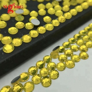 Wholesale AAAAA Sparkling Citrine Flat back Rhinestones SS3 SS4 SS5 SS6 for Nail art