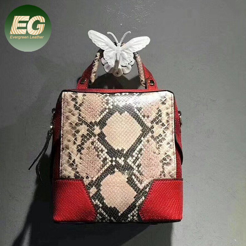 Hot-selling multi colors handbags for women fashion <strong>leather</strong> snake skin teenage girl shoulder bags EMG5566