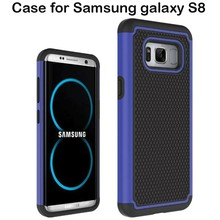 Wholesale Shockproof Rugged Dual Layer Football Texture Rubber Silicone Phone Cover Case For Samsung Galaxy S8 Case