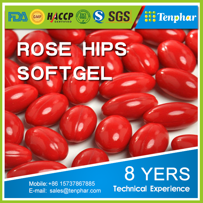 China Food Supplement Manufacture Anti Aging Rose Hip Softgel