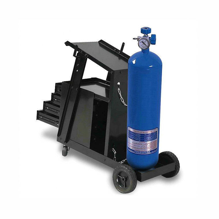 NEW Red Gas Steel Welding Cart Hauls Welding Tanks//Cylinders Torch Equipment